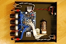 Alembic F-2B preamp DIY build on the Frog Pedals PCB