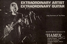 Andy Summers - advert of Hamer guitar