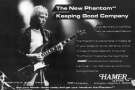 Andy Summers - advert of Hamer Phantom guitar
